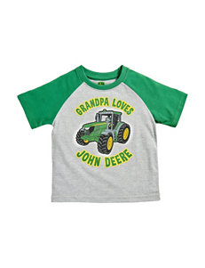 John Deere Heather Grey Tees & Tanks