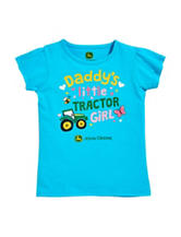 John Deere Turquoise Daddy's Girl Top – Baby 12-24 Mos.