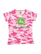 John Deere Pink Camouflage Print Top – Baby 12-24 Mos.