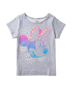 Disney Minnie Mouse Gray Floral Top – Toddler Girls