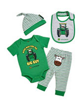 John Deere 4-pc. Big Guy Bodysuit & Pant Set – Baby 0-9 Mos.