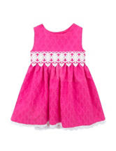 Rare Editions Fuchsia Eyelet Dress –  Baby 12-24 Mos.
