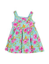 Rare Editions Textured Floral Print Dress –  Baby 12-24 Mos.