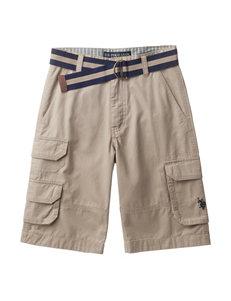 U.S. Polo Assn. Belted Cargo Short – Boys 8-20