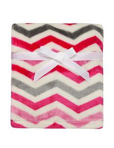 Baby Starters Tonal Pink Chevron Print Blanket