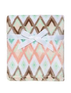 Baby Starters Multicolor Diamond Chevron Print Blanket