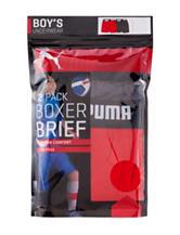 Puma® 2-pk. Solid Color Cotton Boxer Brief Set