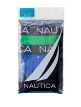 Nautica 2-pk Geometric Print & Solid Boxer Brief Set