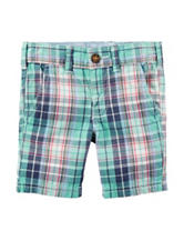Carter's® Multicolor Plaid Print Flat Front Shorts  Toddler Boys