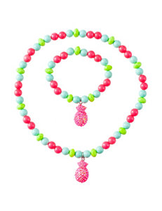 Capelli 2-pc. Beaded Pineapple Necklace and Bracelet Set