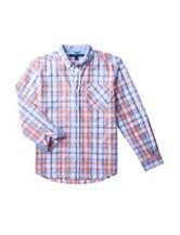 Tommy Hilfiger Zander Plaid Woven Shirt – Boys 8-20