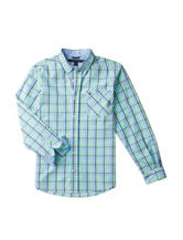 Tommy Hilfiger Go Green Chip Plaid Woven Shirt – Boys 8-20