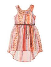 Pogo Club Multicolor Coachella Print Dress – Girls 4-6x