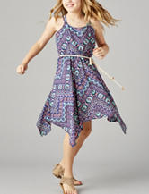 Star Ride Multicolor Tribal Print Dress – Girls 7-16