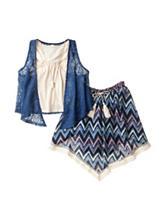 Beautees 2-pc. Crochet Vest Top & Skirt Set – Girls 7-16