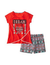 One Step Up Dream 2-pc. Wrap Top & Shorts Set – Girls 7-12