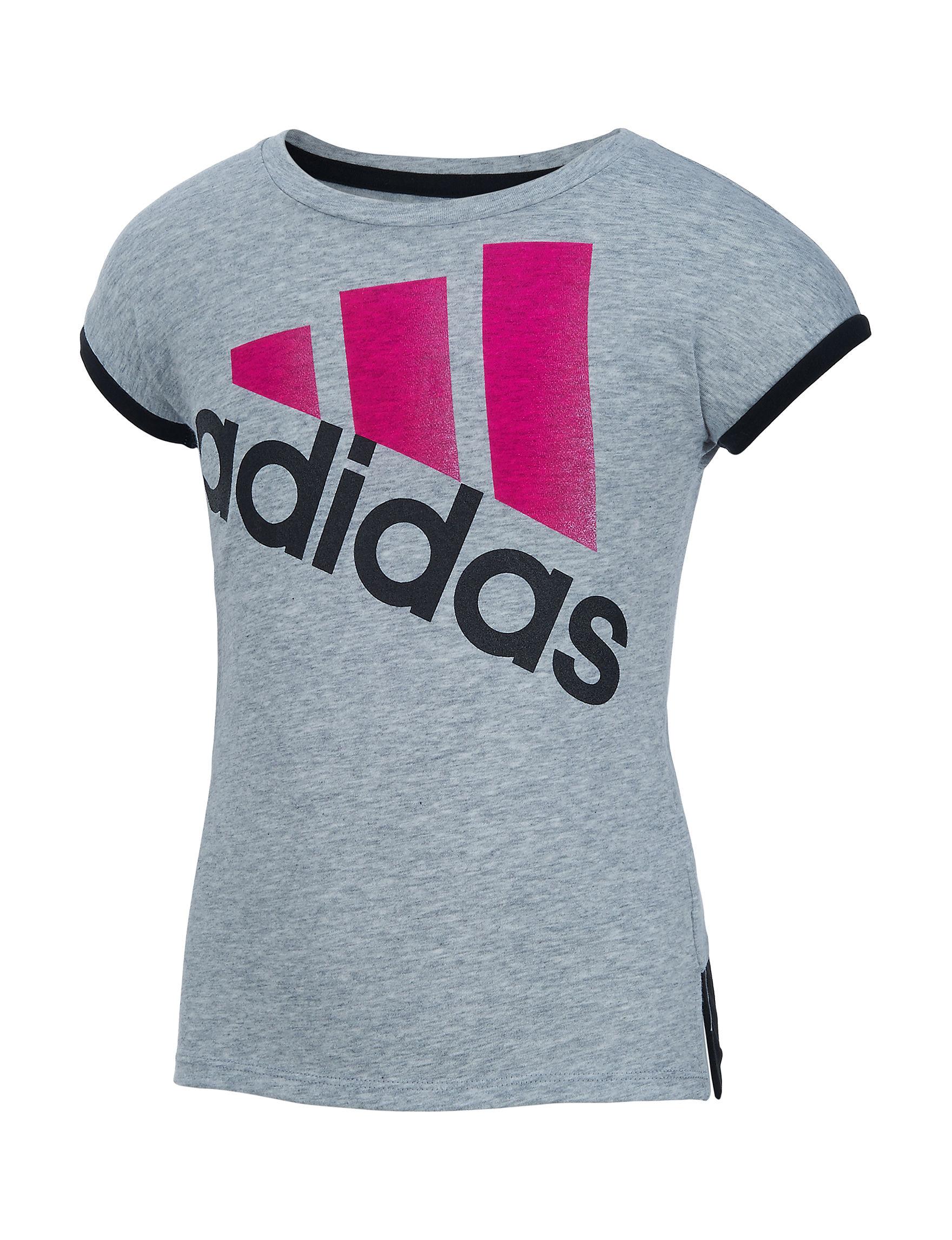 Adidas Medium Grey Tees & Tanks