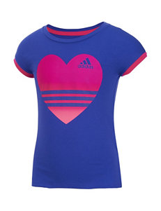 adidas® Heart Field Day Top –Toddlers & Girls 4-6x