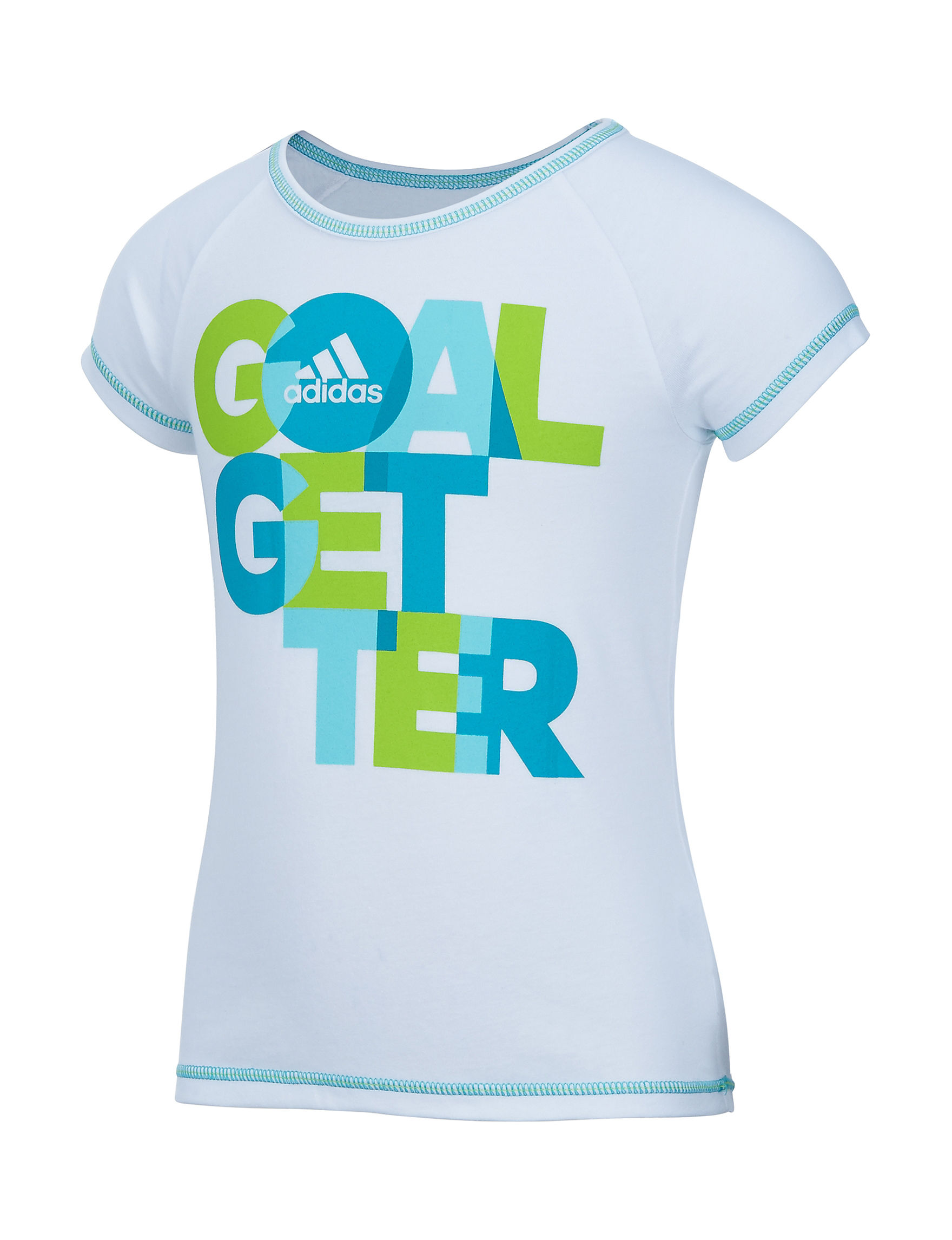 Adidas White Tees & Tanks