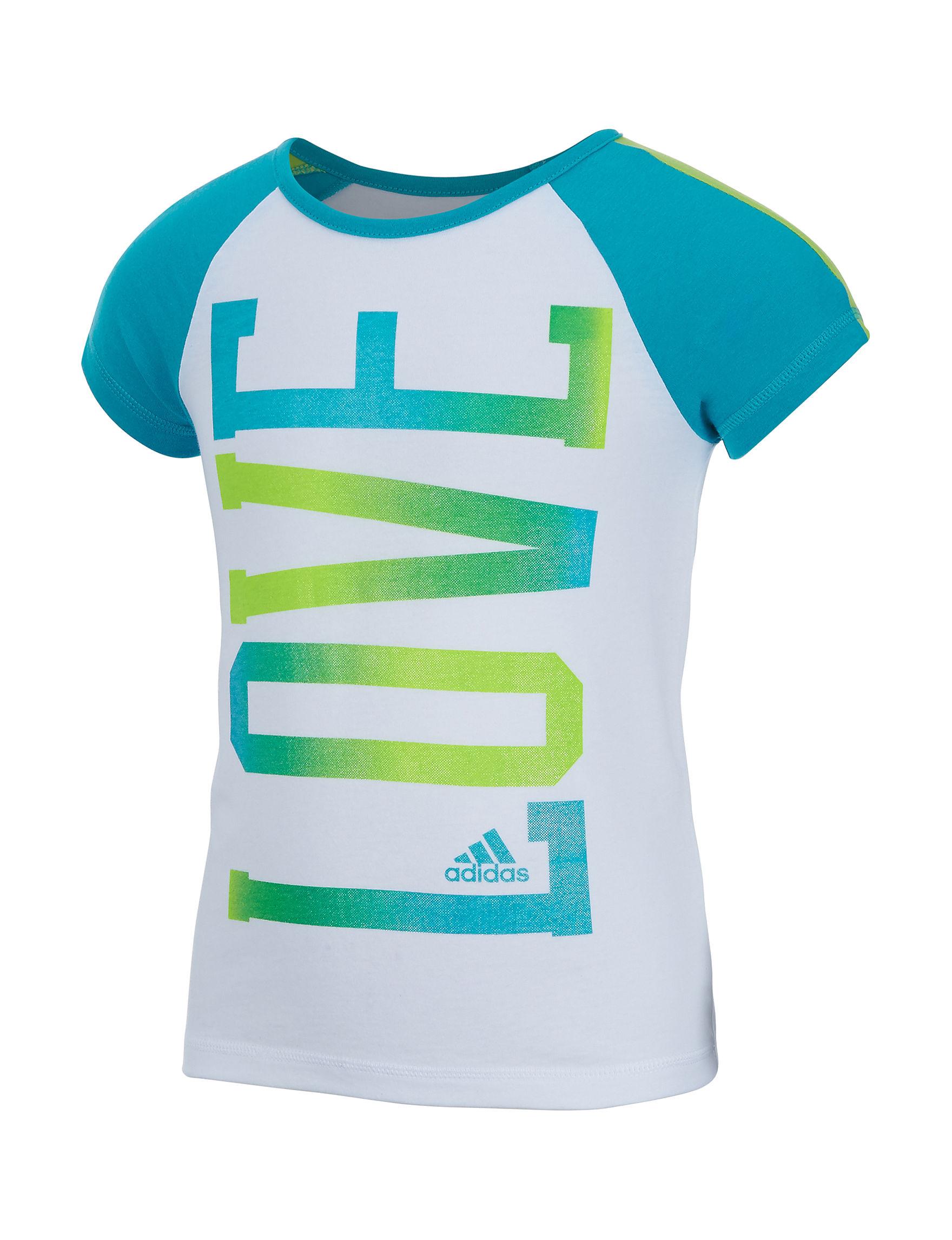 Adidas White Tees & Tanks