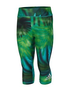 adidas® Green Dot Capri Leggings – Toddlers & Girls 4-6x