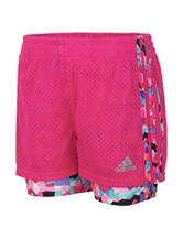 adidas® Pink Double Dutch Mosaic Shorts – Toddlers & Girls 4-6x