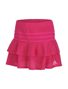 adidas® Solid Color Spin Mesh Skort – Toddlers & Girls 4-6x