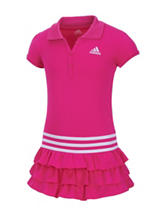 adidas® Solid Color Ruffled Polo Dress – Toddlers & Girls 4-6x