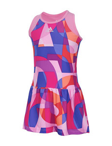 adidas® Multicolored Letter Print Dress – Toddlers & Girls 4-6x