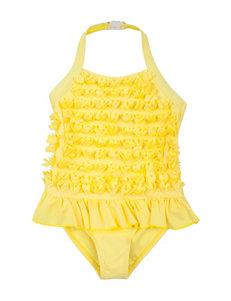 Betsey Johnson Yellow One-piece Swimsuits