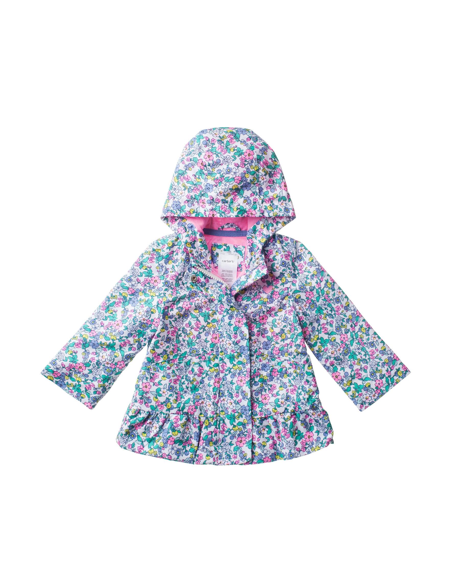 Carter's Pink Floral Lightweight Jackets & Blazers
