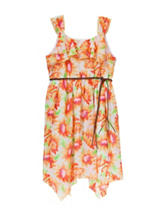 Pogo Club Sunflower Print Dress - Girls 7-16