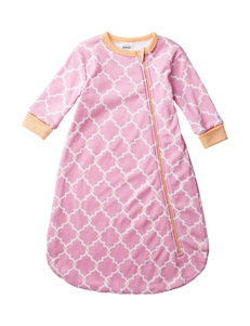 Boppy Pink & Orange Quatrefoil Print Sleep Bag – Baby 0-9 Mos.