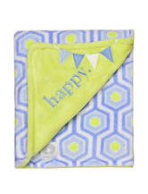 Boppy Blue & Green Happy Honeycomb Print Blanket