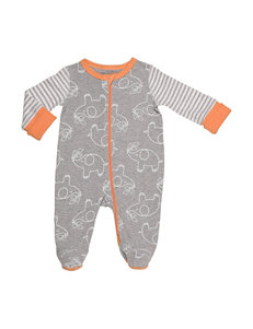 Boppy Grey Elephant Sleeper- Baby 0-9 Mos.