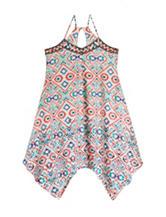 Heart Soul Multicolor Abstract Print Flyaway Dress – Girls 7-16