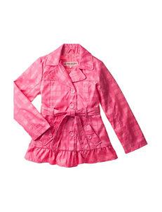 Urban Republic Pink Plaid Trench Coat – Girls 7-16
