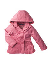 Urban Republic Pink Lemonade Hooded Trench Jacket – Girls 7-16