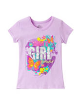 Twirl Lavender Daddy's Girl Forever Screen Print Top – Toddler Girls