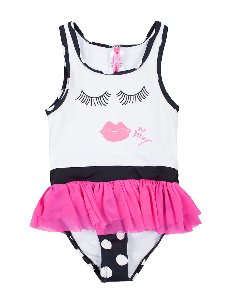 Betsey Johnson Black /  White One-piece Swimsuits