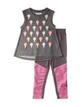 Kensie 2-pc. Ice Cream Top & Leggings Set – Girls 4-6x