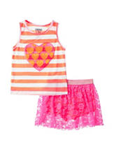 Limited Too 2-pc. Striped Top & Skort Set – Girls 4-6x