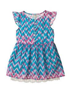 Jessica Simpson Chevron Crinkle Dress - Toddler & Girls 4-6x