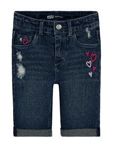Levi's® Bella Heart Print Bermuda Shorts – Girls 4-6x