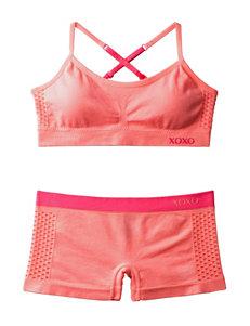 XOXO 2-pc. Pink Seamless Bra & Boyleg Set – Girls 7-16