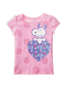 Snoopy Heart Top - Toddler Girls