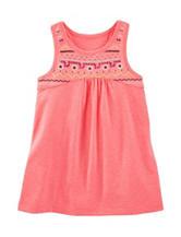Oshkosh B'Gosh® Solid Color Orange Embroidered Tunic - Girls 4-8