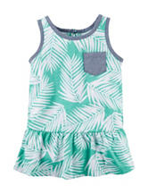 Carter's® Turquoise Leaf Print Tunic Top – Toddler Girls