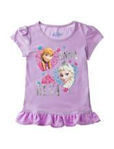 Frozen Anna & Elsa Heart Top - Girls 4-6x
