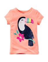 Carter's® Orange Sequin Toucan Screen Print Top – Toddler Girls